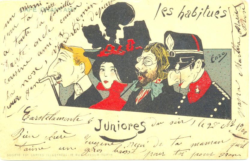 Cleo de Mérode et autres 3 juniores au café chantant par Enzo 100015758