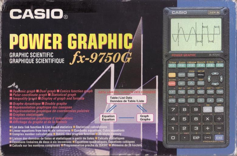 sobre la Casio FX 9750, 32 KB Fx9750g