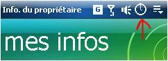 icone horloge dans la barre de tache Screen