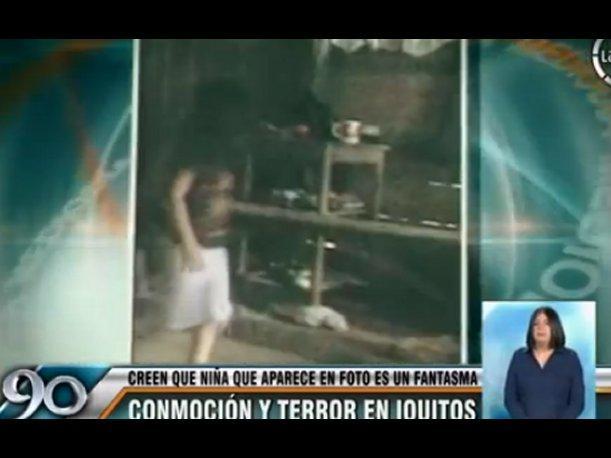 """Supuesta fotografía de niña """"fantasma"""" causa terror en la población  Lima"""