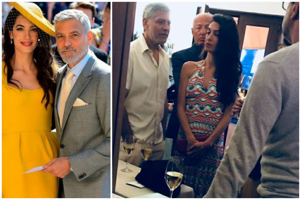 George and Amal Out for Dinner with Grant and Gio in Sardinia Clooney-amal-5-1019536