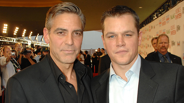 ¿Cuánto mide George Clooney? - Altura - Real height Clooney-damon