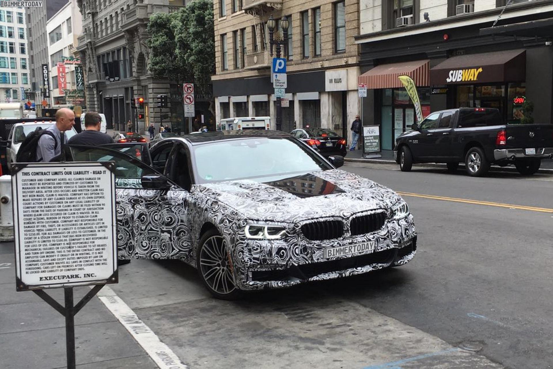 2016 - [BMW] Série 5 Berline & Touring [G30/G31] - Page 16 2017-BMW-5er-G30-Erlkoenig-USA-01