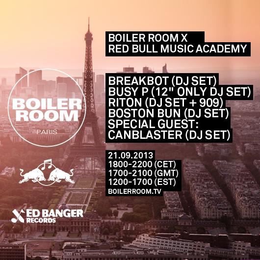2013.09.21 - RITON (DJ SET + 909) - BOILER ROOM X RED BULL MUSIC ACADEMY (PARIS) Image