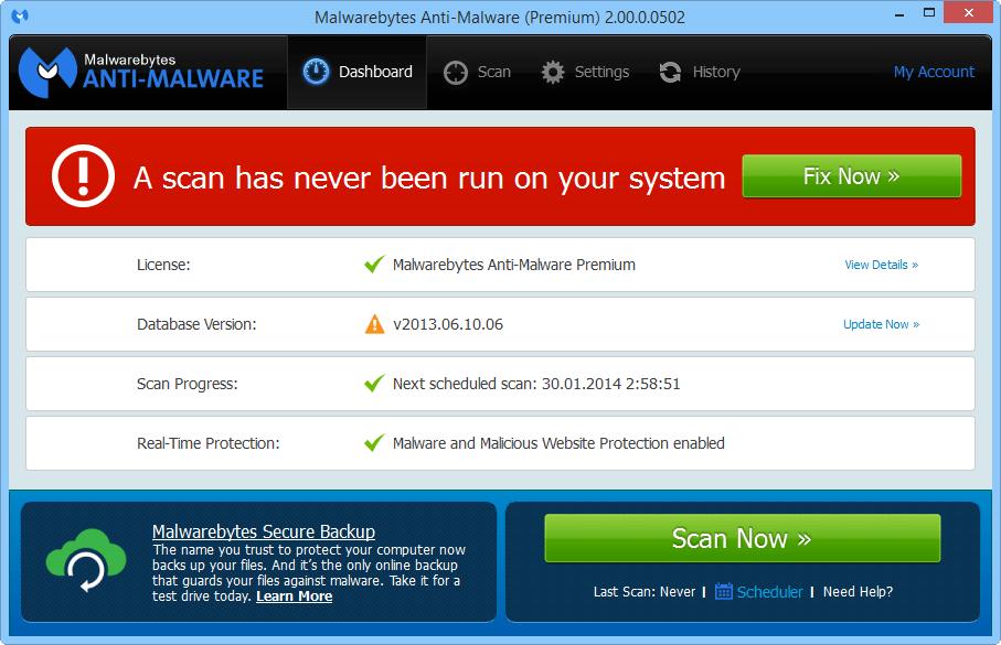 Malwarebytes Anti-Malware 2.0 доступен для тестирования Mbam_2_1