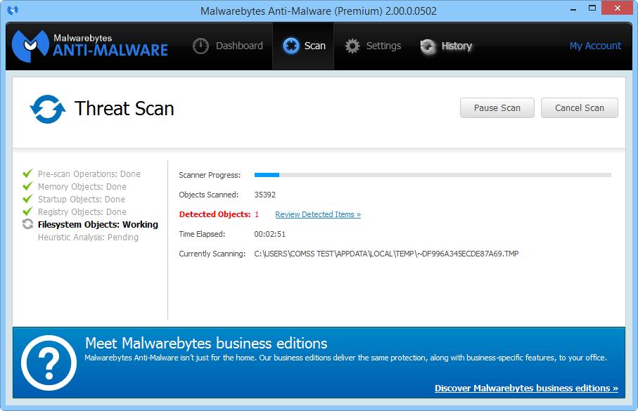 Malwarebytes Anti-Malware 2.0 доступен для тестирования Mbam_2_2