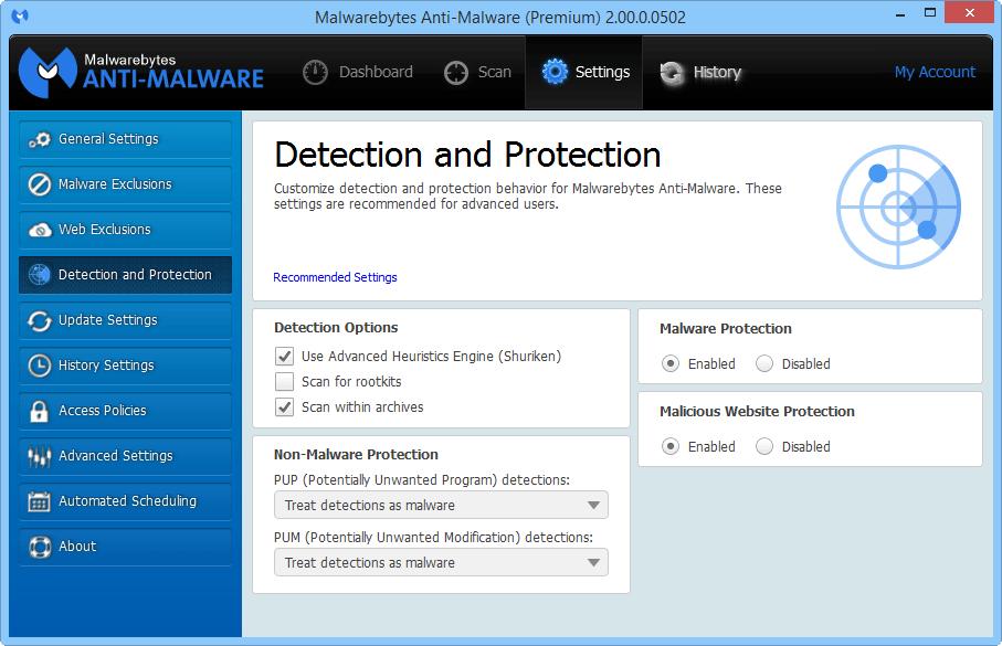 Malwarebytes Anti-Malware 2.0 доступен для тестирования Mbam_2_6