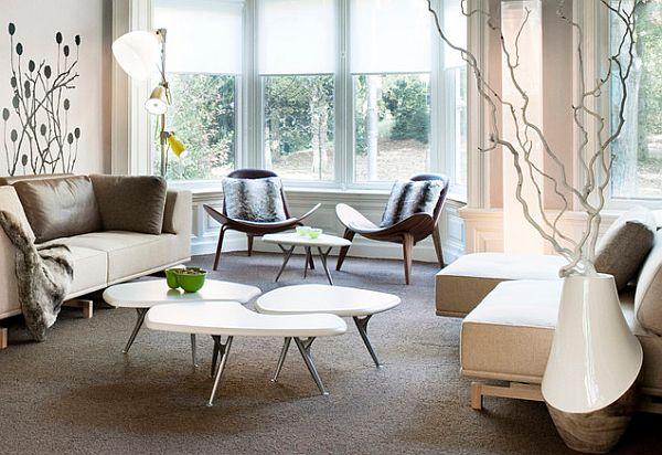 Sofa phòng khách - * Z E N H O M E S   F U R N I S H I N G * Beautiful-living-room-with-irregular-shaped-coffee-table