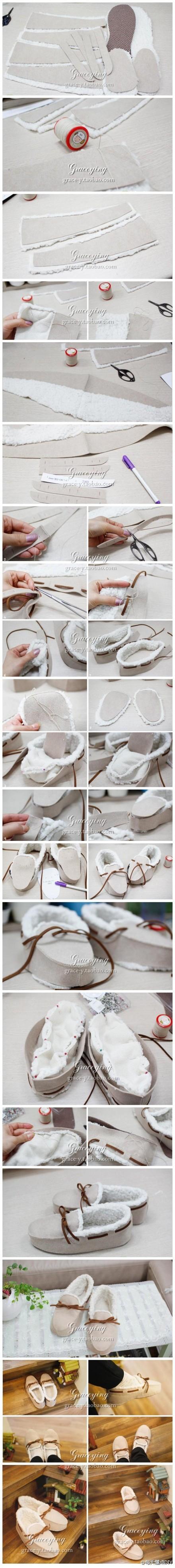 DIY Your Own Fuzzy Moccassins 20111207113312_2BPdz