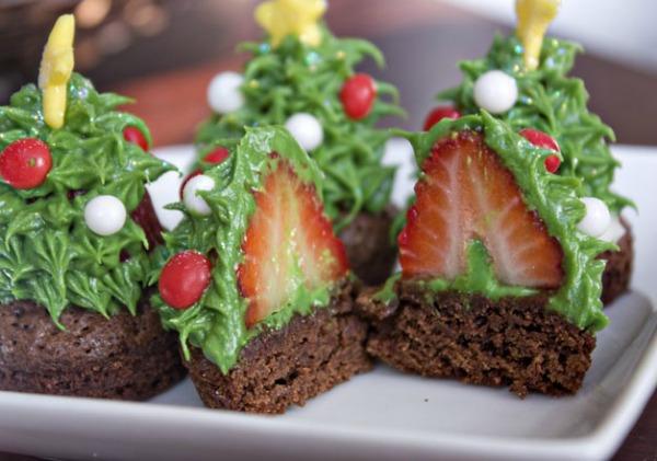 Новогодние рецепты Cupcake-trees