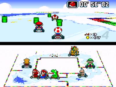Vos jeux et niveaux où il fait froid préférés Super-Mario-Kart-Screenshot-01