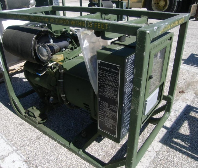 generators and storage solutions MEP-531A-and-MEP-501A-Military-Diesel-Generator-Muffler-Side