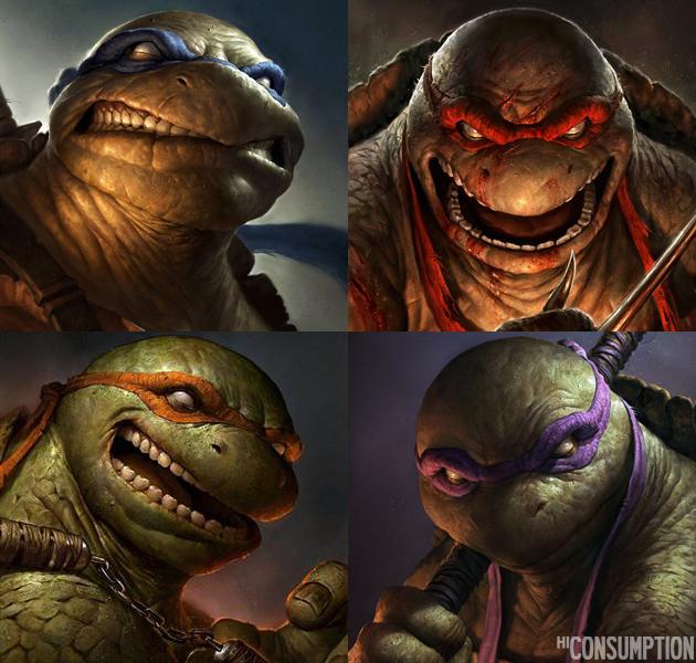 Star Wars : Le Réveil de la Force [Lucasfilm - 2015] - Page 5 Realistic-Teenage-Mutant-Ninja-Turtles-Portraits-by-Dave-Rapoza-0