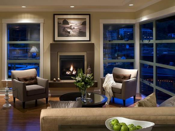 DECORACION  CHIMENEAS Y FALSAS CHIMENEAS - Página 4 Modern-fireplace-truffle-span-cast-concrete-livingroom-582x438