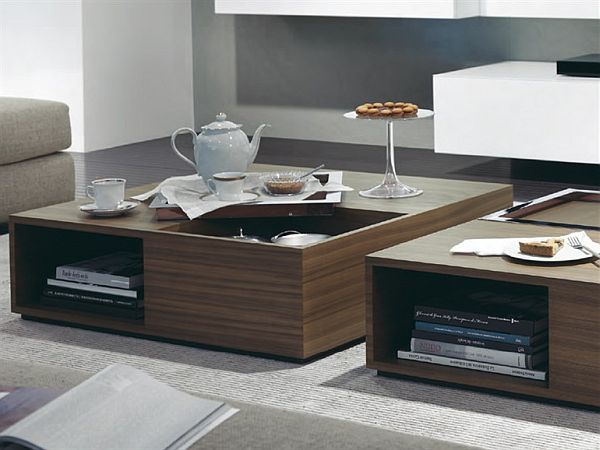 Sofa phòng khách - * Z E N H O M E S   F U R N I S H I N G * Wooden-Square-Coffee-table