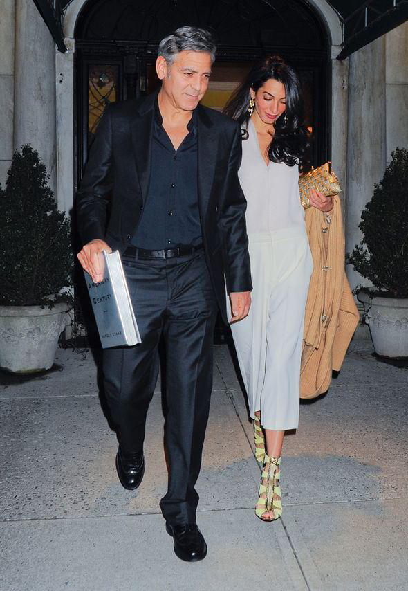 George Clooney & Amal seen in New York City on March 27 George-Clooney-and-Amal-Alamuddin-270025