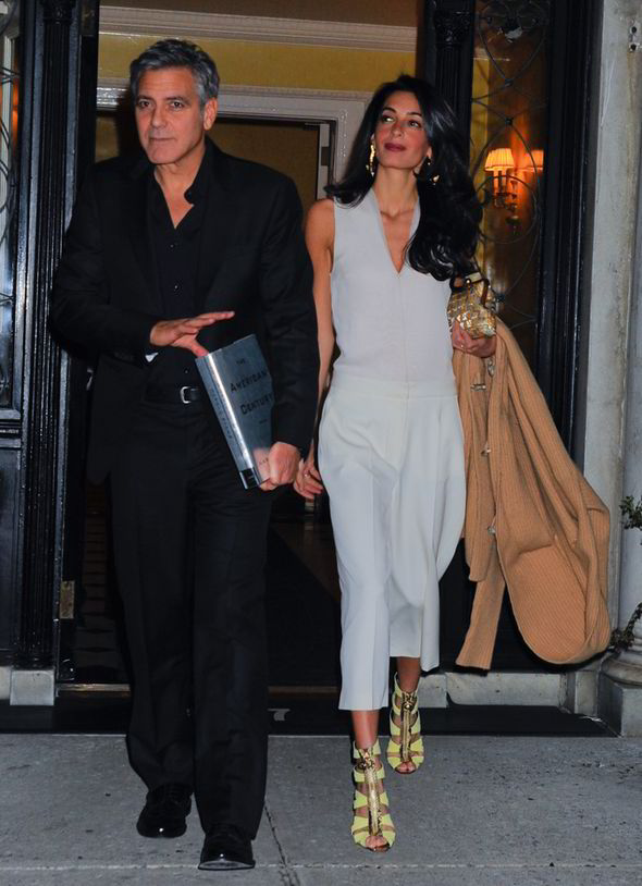 George Clooney & Amal seen in New York City on March 27 George-Clooney-and-Amal-Alamuddin-270028