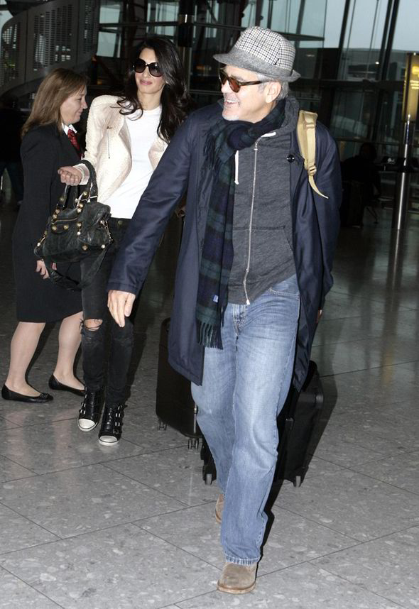 George Clooney enjoys another day in Mexico - but this time his parents join the fun Amal-clooney-george-clooney-heathrow-226483