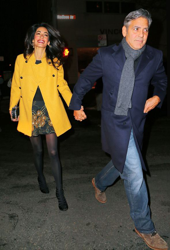 George Clooney and Amal out for dinner on the Upper East Side at Kappo Masa George-clooney-amal-262182