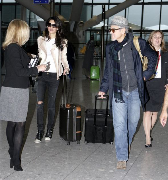 George and Amal Clooney spotted at Heathrow George-clooney-amal-clooney-heathrow-226482