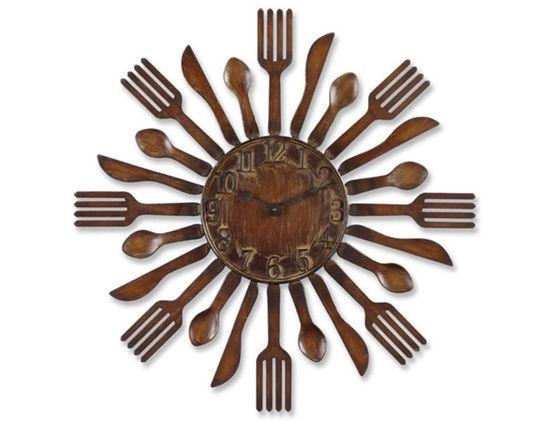 افكار جديده لساعات حائط مطبخك العامر Clocksevermade43