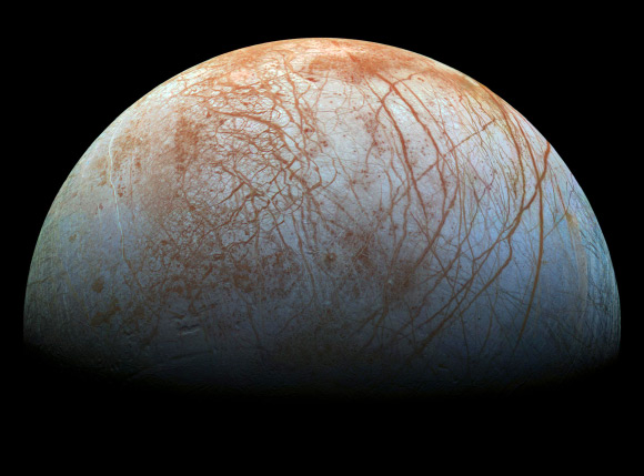 Europa's Plumes May Originate from Near-Surface Brine Reservoirs Image_2292-Europa