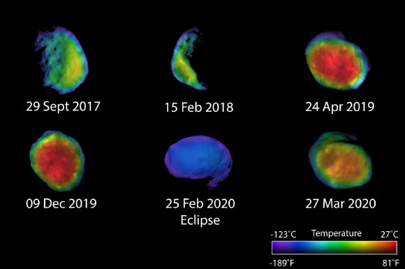 Mars Odyssey Captures New Thermal Images of Phobos Image_8511-Phobos
