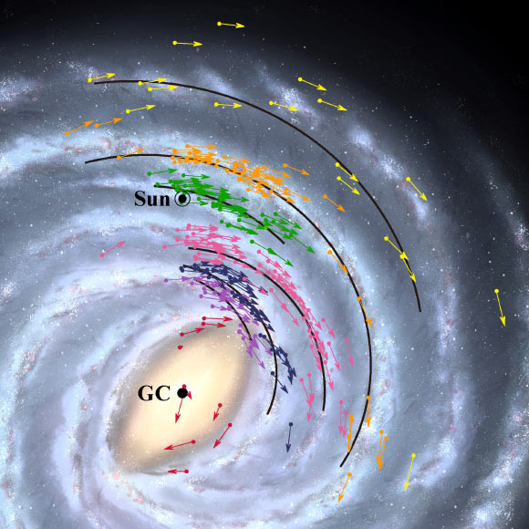 Milky Way's Supermassive Black Hole is Closer than Astronomers Thought Image_9098-Milky-Way-Map