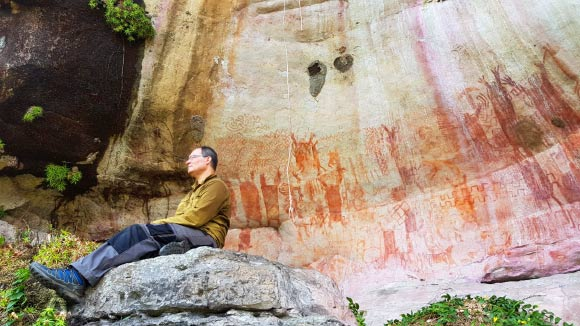 12,000-Year-Old Rock Drawings of Ice Age Megafauna Discovered in Colombian Amazon Image_9117_1-Megafauna-Drawings