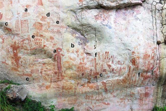 12,000-Year-Old Rock Drawings of Ice Age Megafauna Discovered in Colombian Amazon Image_9117_2-Megafauna-Drawings