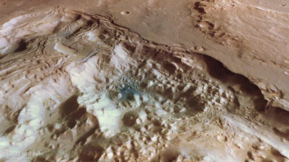 Mars Express Spots Chaotic Terrain near Valles Marineris Image_9207_2-Mars-Pyrrhae-Regio