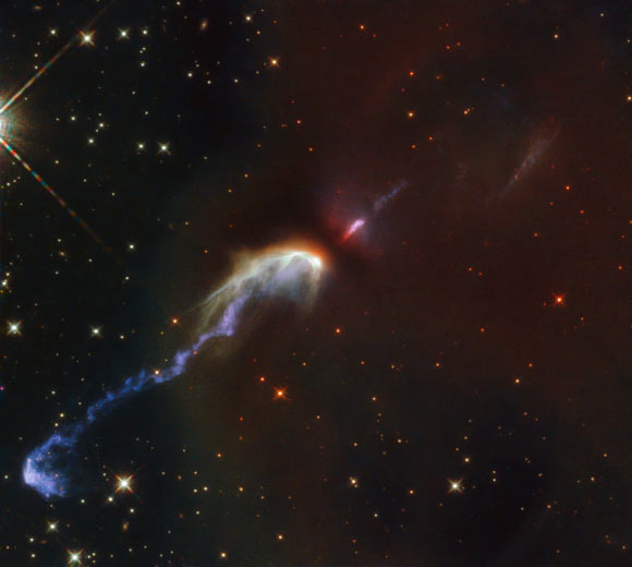 Hubble Captures Two Beautiful Herbig-Haro Objects Image_9352-HH46-HH47