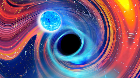 Gravitational Waves from Black Hole-Neutron Star Collisions Image_9810-Black-Hole-Neutron-Star-Merger
