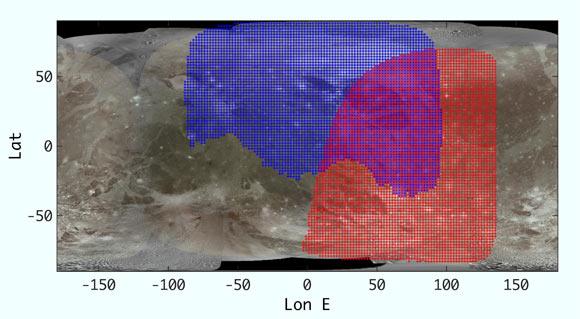 Juno Team Creates Infrared Map of Ganymede Image_9941_1-Ganymede-Infrared-Map