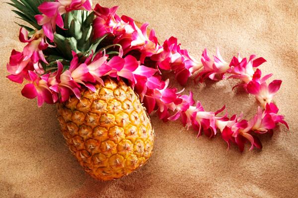 Гавайские праздники. Гавайская вечеринка. Гавайская магия. Гаваи ( кухня, танцы, мода ). - Страница 2 Pineapple-on-beach