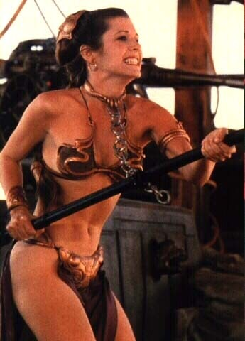 Women Wearing Revealing Warrior Outfits Princess_leia_3