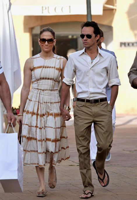¿Cuánto mide Marc Anthony? - Altura - Real height Jennifer-lopez-with-husband-marc-anthony-shopping