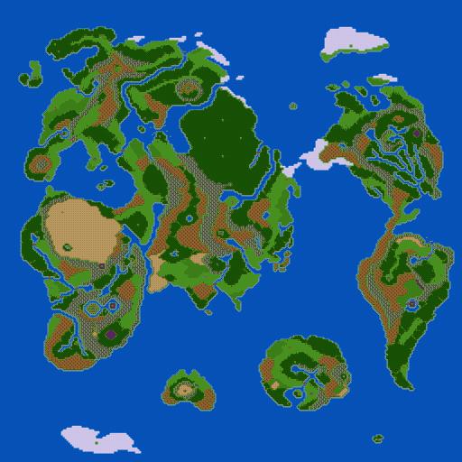 [TEST] Dragon Quest III (GBC) DW3_overworld_map