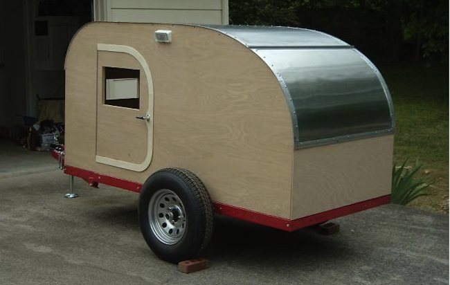 How to Build a Teardrop Camper Trailer-ceiling-wos