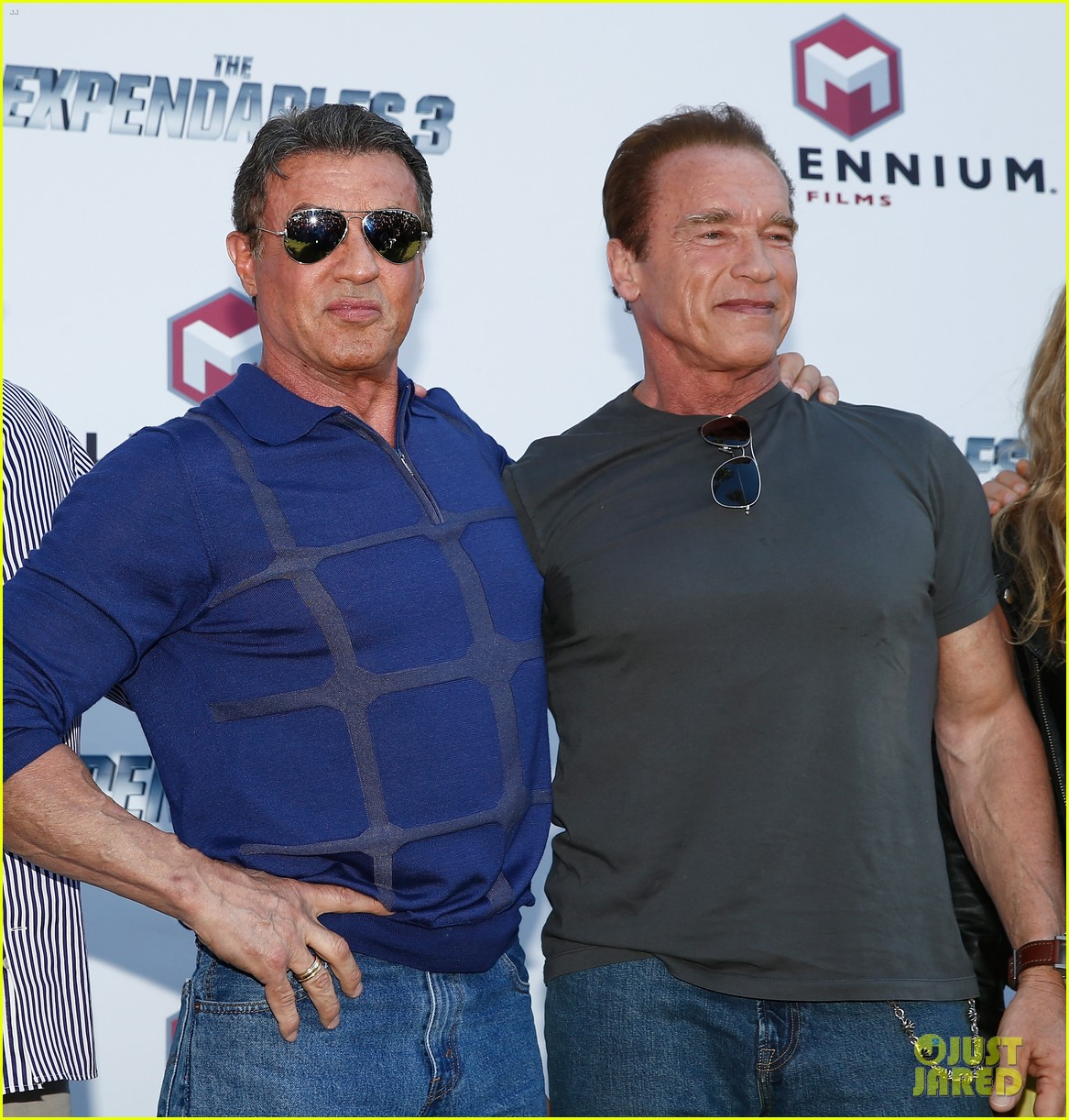 ¿Cuánto mide Sylvester Stallone? - Altura - Real height Jason-statham-star-studded-expendables-3-photo-call-06