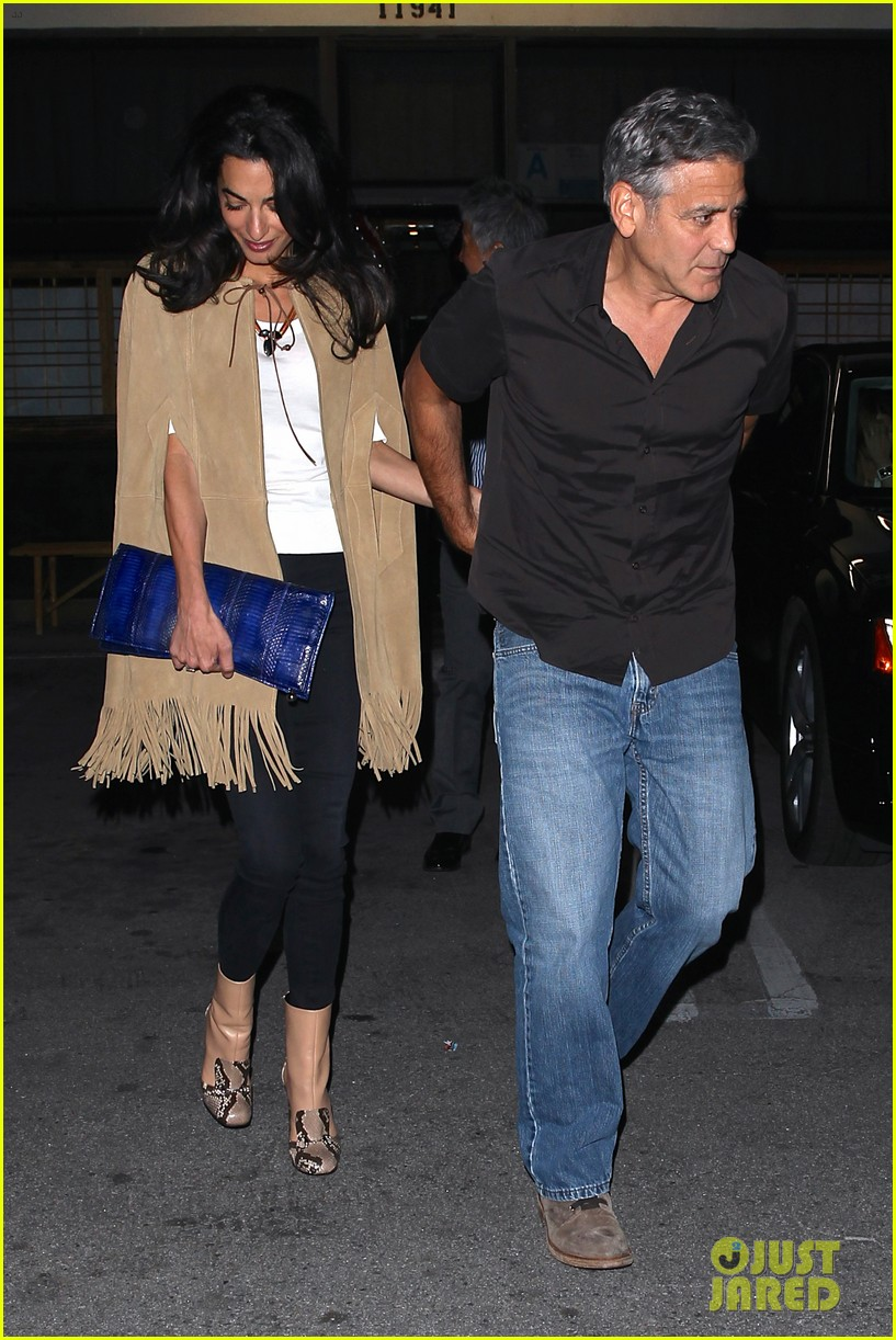 George and Amal Clooney Their First Valentine's Day George-clooney-amal-valentines-day-01