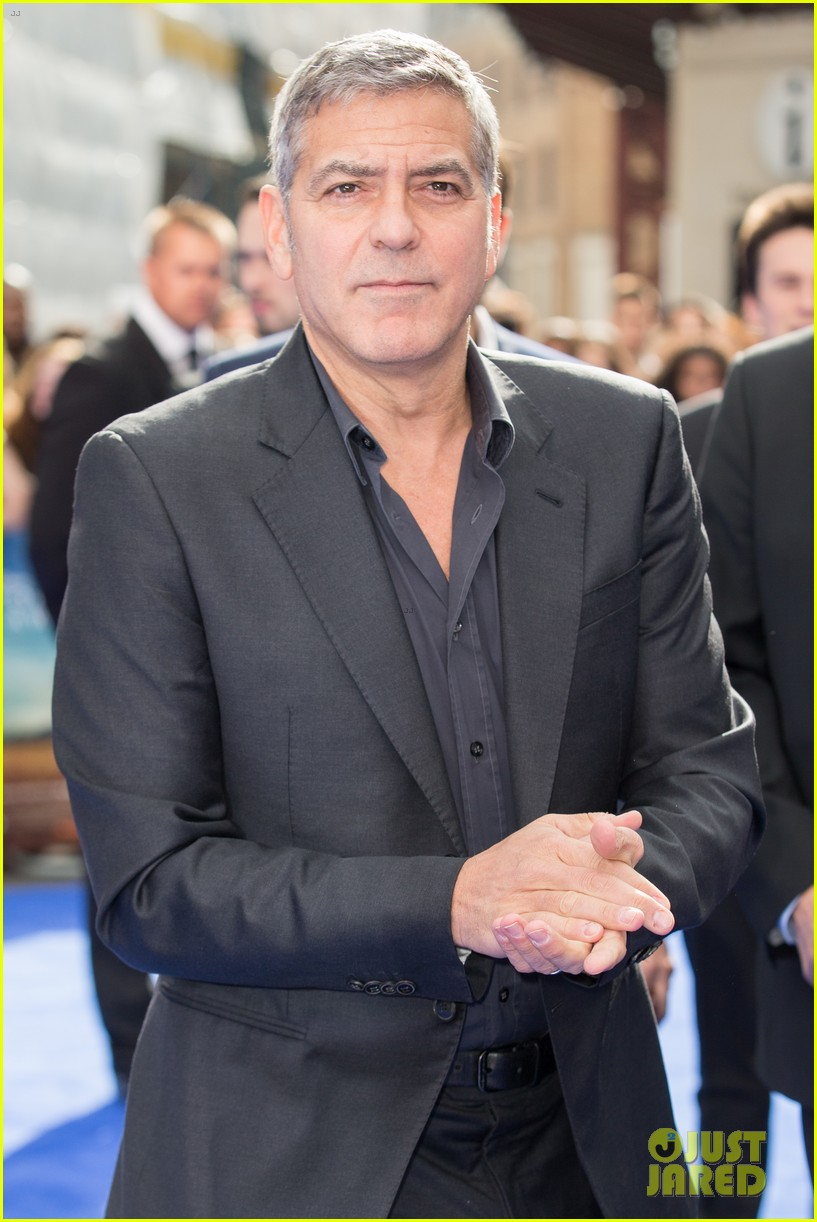 George Clooney at the Tomorrowland Premiere in London 17. May 2015 George-clooney-britt-robertson-tomorrowland-london-09