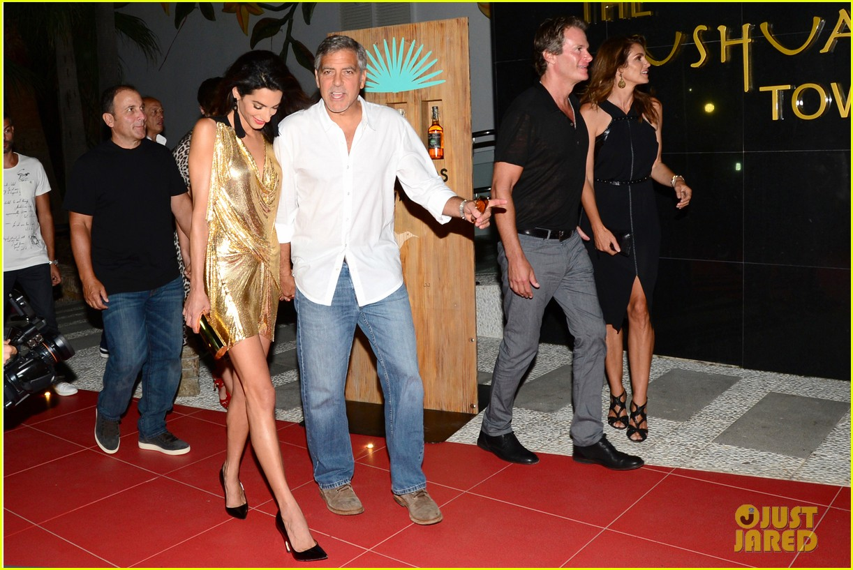 George & Amal Clooney, the Gerbers at the Ibiza launch of their Casamigos tequila August 23, 2015 George-amal-clooney-launch-tequila-ibiza-08