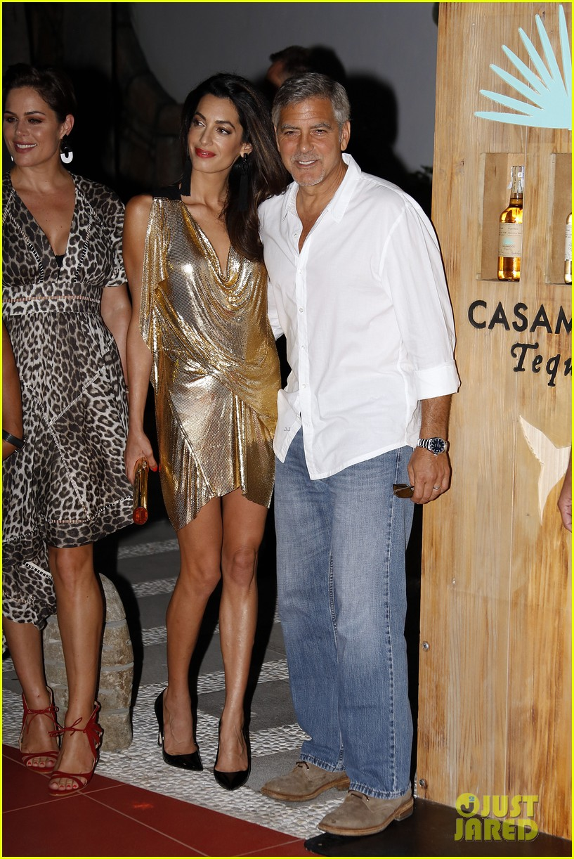 George & Amal Clooney, the Gerbers at the Ibiza launch of their Casamigos tequila August 23, 2015 George-amal-clooney-launch-tequila-ibiza-10