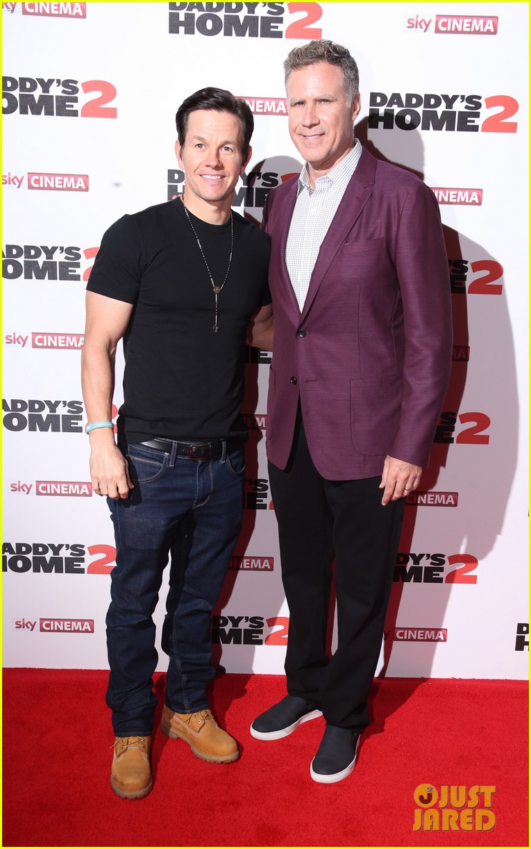 ¿Cuánto mide Will Ferrell? - Altura - Real height Mark-wahlberg-daddys-home-premiere-in-london-17