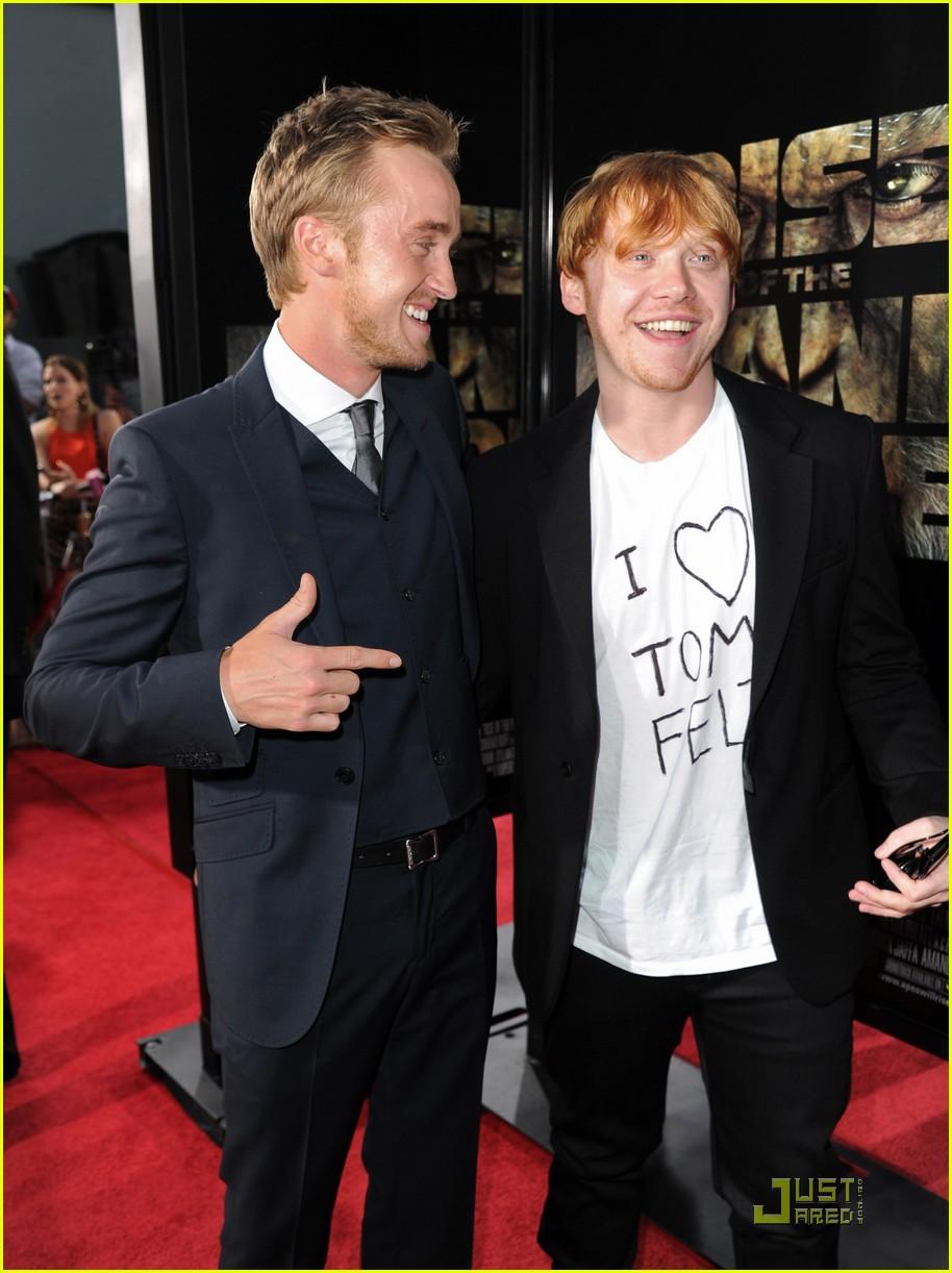 ¿Cuánto mide Tom Felton? - Altura - Real height Rupert-grint-loves-tom-felton-04
