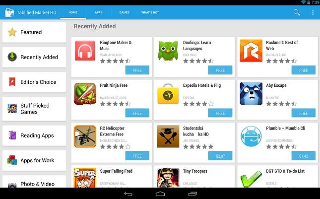 [ASTUCE] TABLIFIED MARKET : Afficher un Google Play Store spécifique pour tablette Android [Gratuit][19.09.2013] Tablified-market-android-tablet-apps