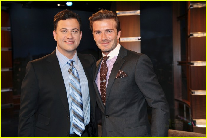 ¿Cuánto mide Jimmy Kimmel? - Altura - Real height David-beckham-jimmy-kimmel-live-01