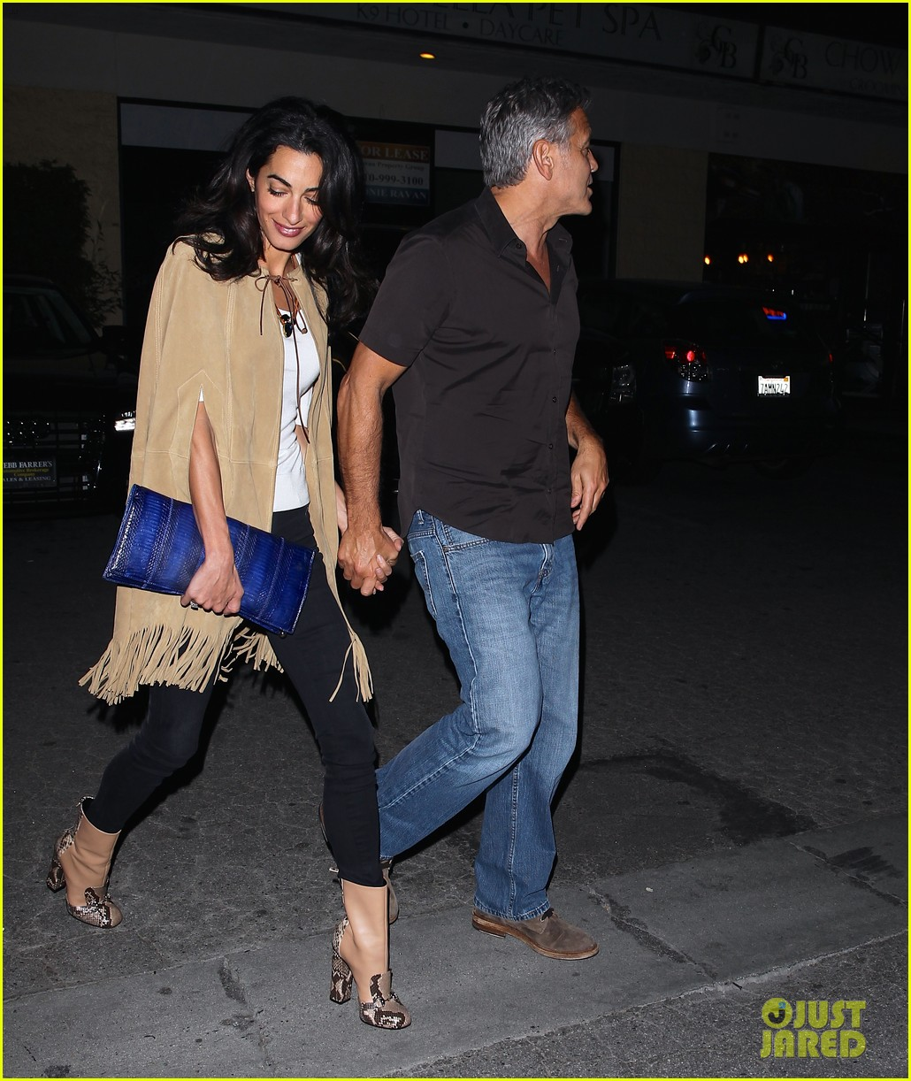George and Amal Clooney Their First Valentine's Day George-clooney-amal-valentines-day-08