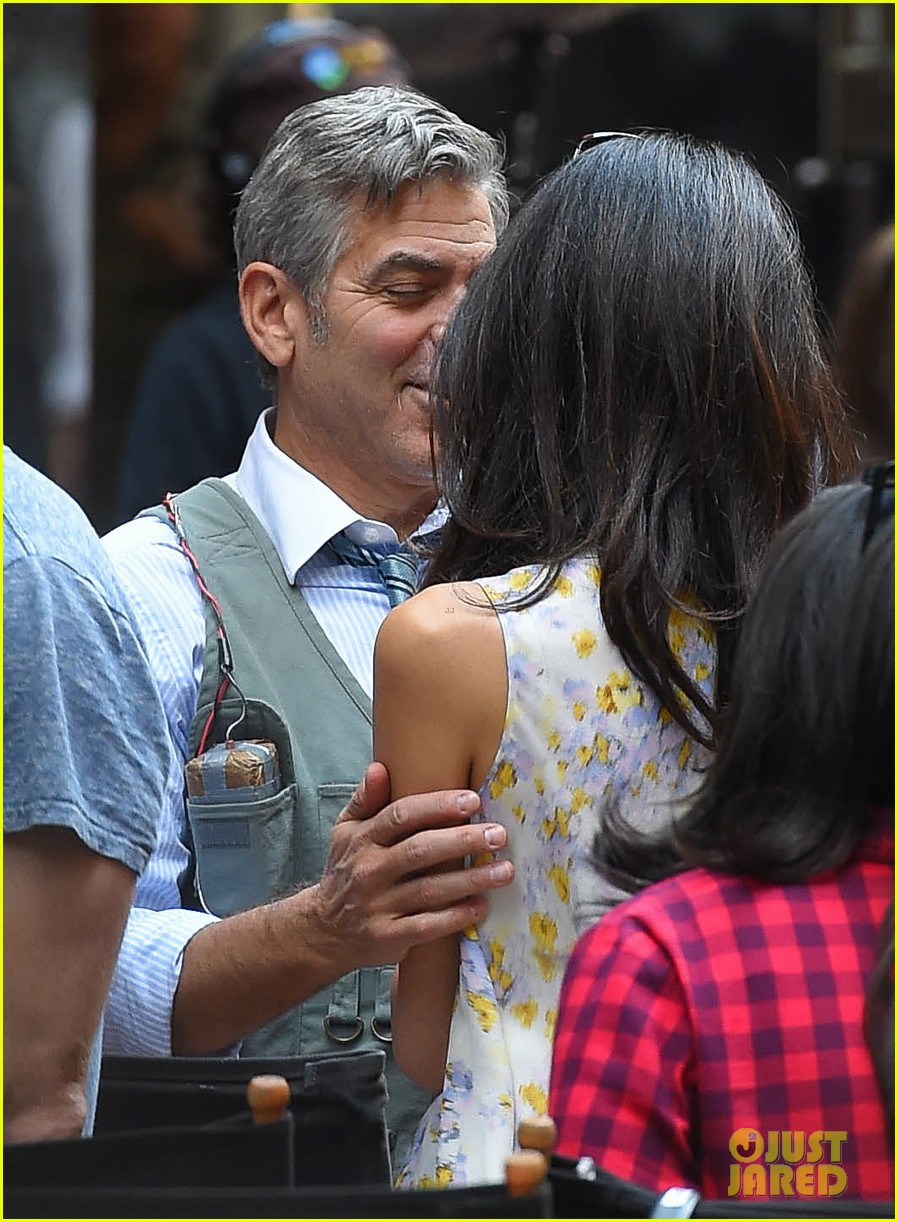 George Clooney on location: Money Monster NYC April 18, 2015 George-clooney-gets-touchy-feely-with-amal-34
